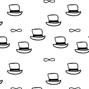 Little chap cute Paris hat print black and white for cool boys and hipster men