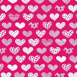Geometric texture hearts love valentine wedding theme scandinavian style pink