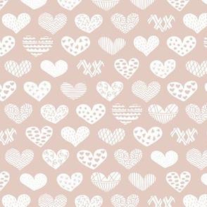Geometric texture hearts love valentine wedding theme scandinavian style beige