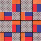 9x9 quilt square Grateful Dead pattern 13 design 1 BASIC