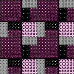 9x9 quilt square Skulls pattern 5 design 1 BASIC