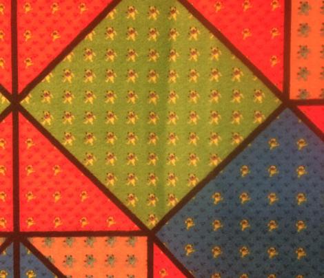 9x9 quilt square Grateful Dead pattern 2 design 4 MIRROR