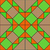 9x9 quilt square Grateful Dead pattern 10 design 4 MIRROR