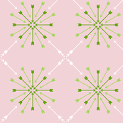 Arrow Starburst Vector Pink Green White