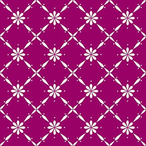 Charlotte Farmhouse Diamond Floral Plum