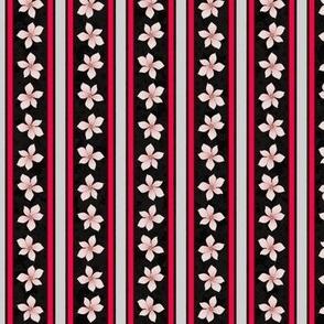 Floral Stripe (Jet)