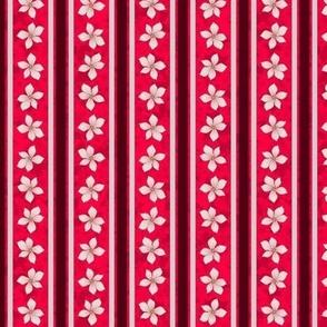Floral Stripe (Cherry)