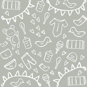 Nursery Doodles Gray