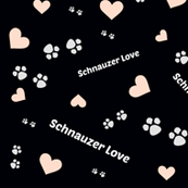 Schnauzer Dog love pawprints