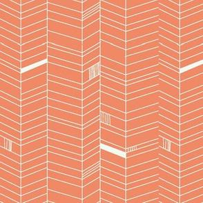 Herringbone - coral