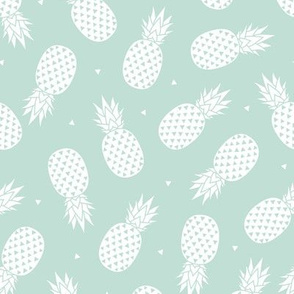 Pineapple - Mint Background