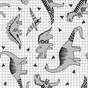 dinos // slate railroad dinosaurs kids baby nursery