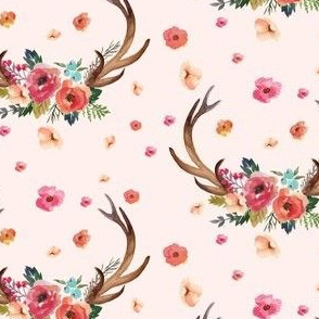 Floral Deer Garden - Pink