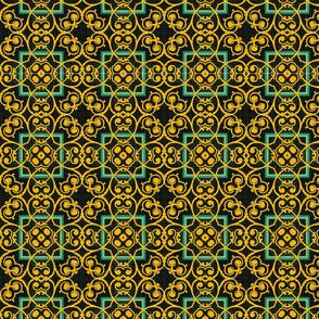 Intricate Golden Vine Pattern