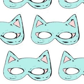 Cat Mask Sky Blu & Rose Quartz