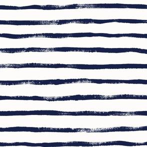 Indigo Thin Stripe