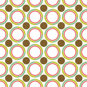 Brown and green circles