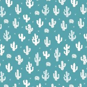 Raw western indian summer cactus garden blue
