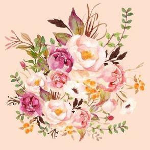 Boho Vintage Floral Pastel - Pink