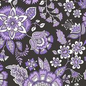Floral Brocade Garden  in Purple