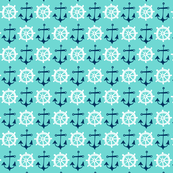 Anchors Away Aqua Nautical