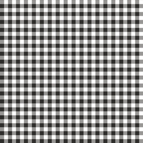 Mini Gingham Black and White