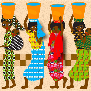 African Water Ladies Tea Towel