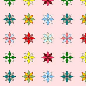 Large stars on pink