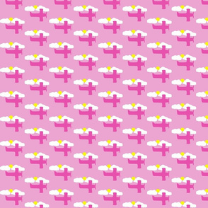 pink airplane fabric
