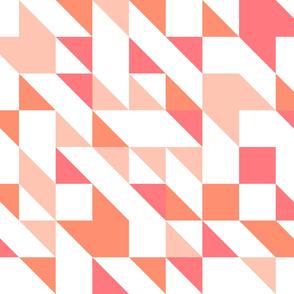 NO printed Guidelines || Peach, Coral, Orange