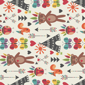 Little Indians - Main Pattern - Rotated