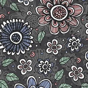 Sketchy Garden (Rose Quartz and Serenity)