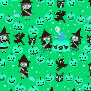 witches on green