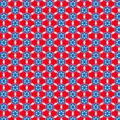 red blue white geometric
