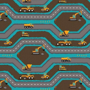 Busy Roadbuilding - Blue