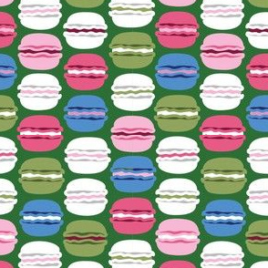 Green and Pink Macarons small