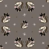 Siamese girl cat with martini