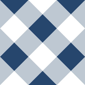 On Point Gingham // Dark Blue Seas // Cheater Quilt