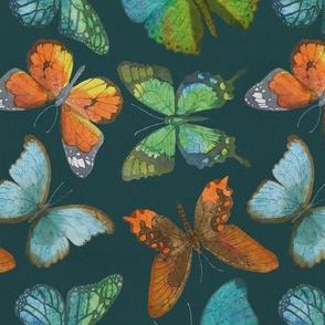 Rustic Butterfly - Jade