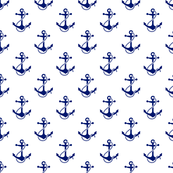 anchors - navy on white