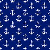 anchors - white on navy