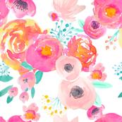 Indy Bloom Blush Florals WHITE