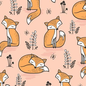 Dreamy Fox in Pale Peach