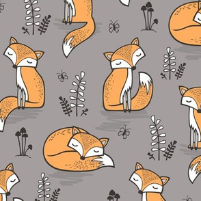 Dreamy Fox in Opal Gray