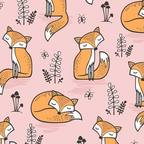 Dreamy Fox in Pink Dogwood