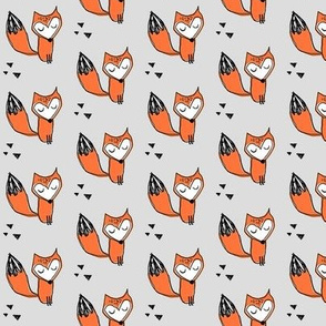 fox geometric triangles baby nursery trendy kids grey baby boy gender neutral fox