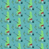 Sabashi's Fishing Adventure fish children baby  room fabric