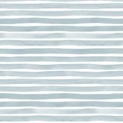 Slate Blue Watercolor Stripes by Friztin
