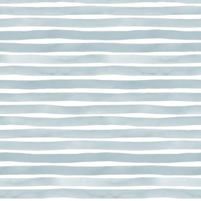 Slate Blue Watercolor Stripes by Friztin