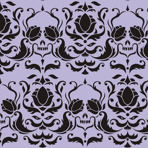 Killhouettes Damask Wallpaper